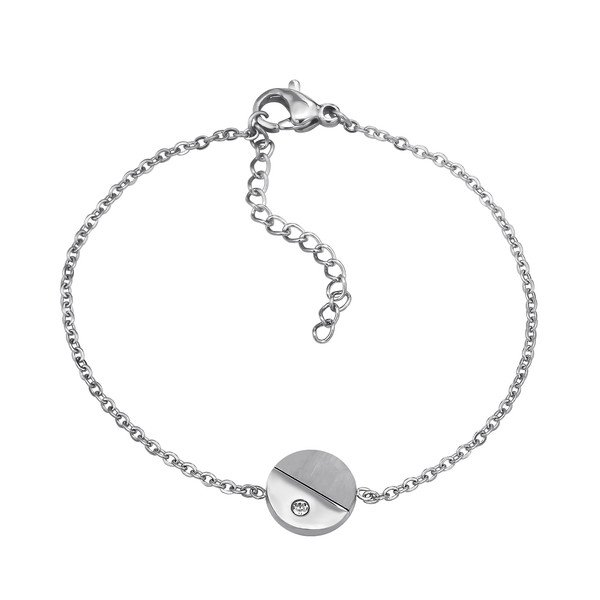 Amanto Armband Camille A - Dames - 316L Staal - Zirkonia - Rond - ∅10 mm - 19 cm-0