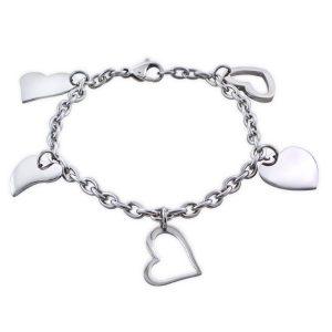 Amanto Armband Caran - Dames - 316L Staal - Bedel Hart - 18 cm-0