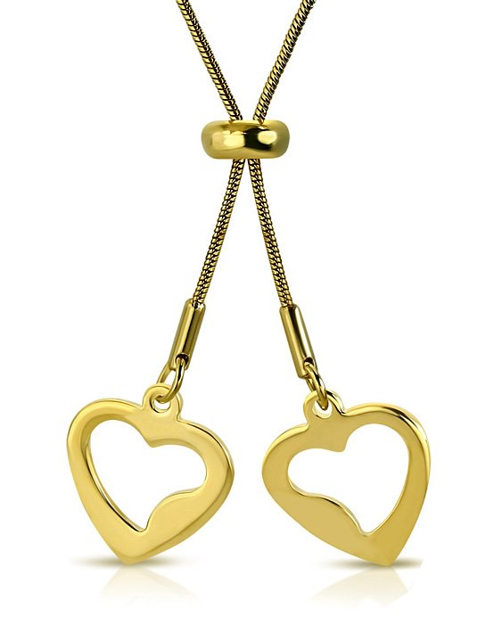 Amanto Ketting Ceciel - Dames - 316L Staal Goud PVD - Hart - 15 x 15 mm - 80 cm-0
