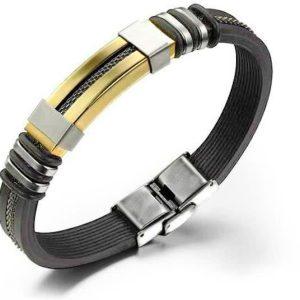 Montebello Armband Malens Gold - 316L Staal - Siliconen - 20.5cm-0