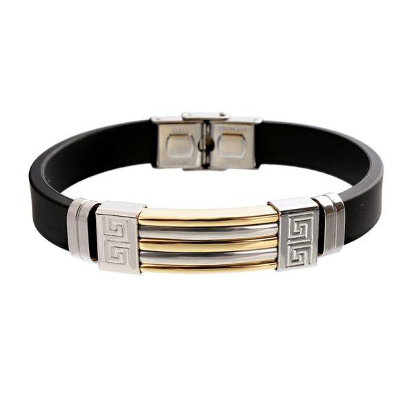 Montebello Armband Klaft Gold - Heren - 316L Staal - Siliconen - 20.5 cm-0