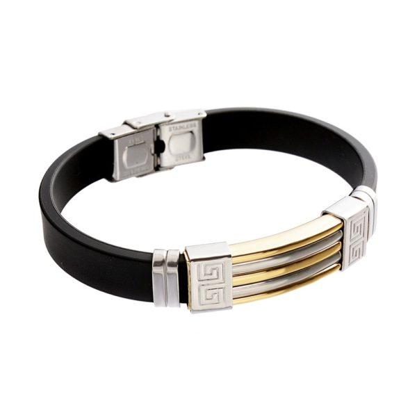 Montebello Armband Klaft Gold - Heren - 316L Staal - Siliconen - 20.5 cm-22409