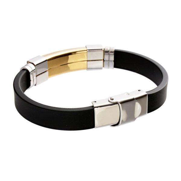 Montebello Armband Klaft Gold - Heren - 316L Staal - Siliconen - 20.5 cm-22410