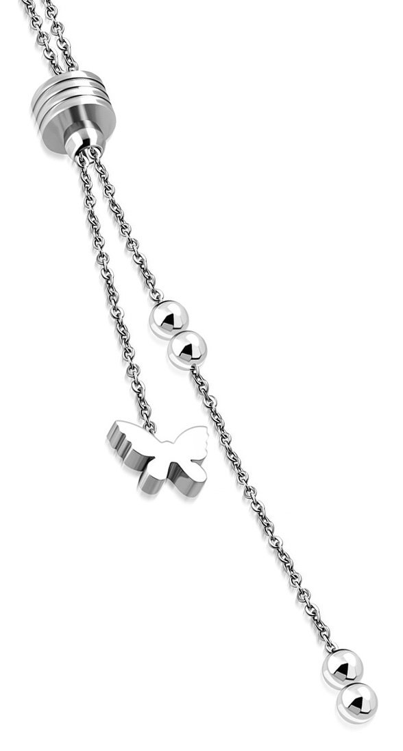 Amanto Ketting Celal - Dames - 316L Staal - Vlinder - 43 cm-0