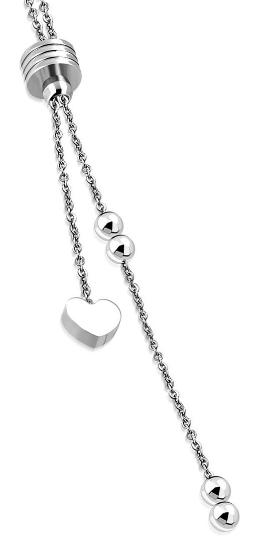 Amanto Ketting Cees - Dames - 316L Staal - Hart - 43 cm-0