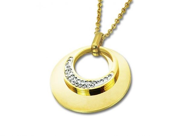 Montebello Ketting Bouke - Dames - 316L Staal Goud PVD - Zirkonia - ∅30 mm - 50 cm-0