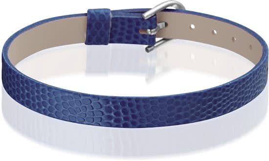 Montebello Armband Anass Donkerblauw - Dames - Leer - Metaal - 20.5 cm-0