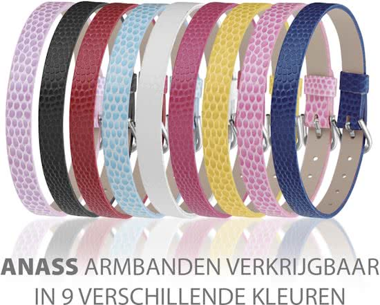 Montebello Armband Anass Donkerblauw - Dames - Leer - Metaal - 20.5 cm-14360