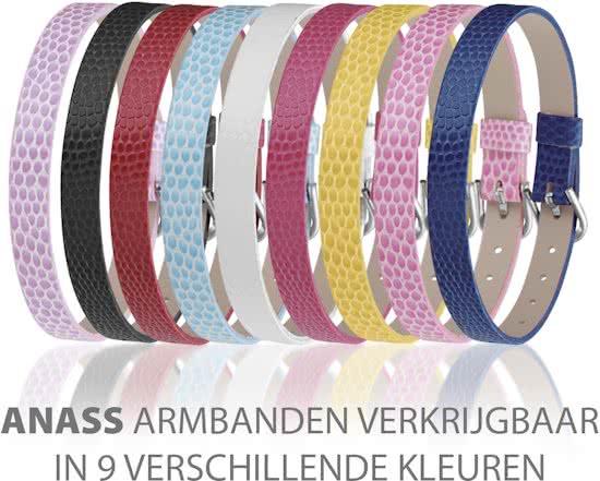 Montebello Armband Anass Roze - Dames - Leer - Metaal - 20.5 cm-14548