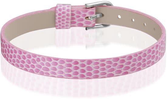 Montebello Armband Anass Roze - Dames - Leer - Metaal - 20.5 cm-0