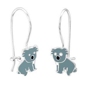 Amanto Kids Oorbellen Chesron - Meisjes - 925 Zilver - Epoxy - Koala - 9 x 20 mm-0