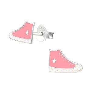 Amanto Kids Oorbellen Chris - Meisjes - 925 Zilver - Epoxy - Sneaker - 6 x 10 mm-0