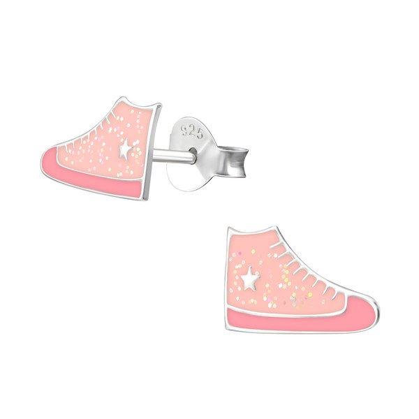 Amanto Kids Oorbellen Chrisa - Meisjes - 925 Zilver - Sneaker - 6x10mm-0