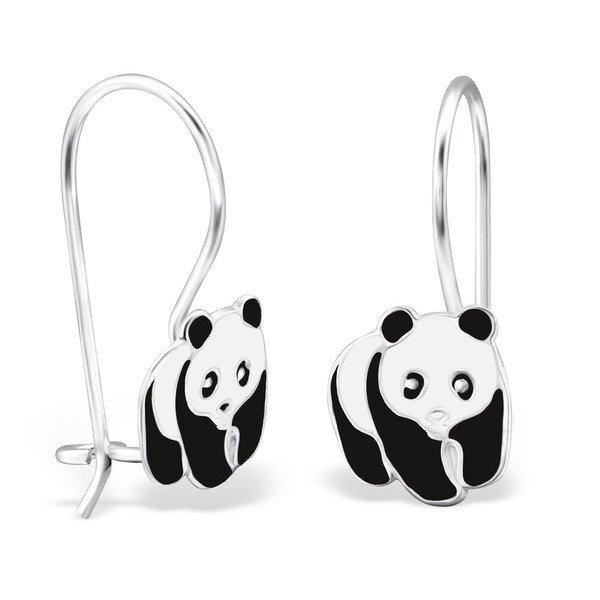 Amanto Kids Oorbellen Chevy - Meisjes - 925 Zilver - Epoxy - Panda - 8 x 20 mm-0