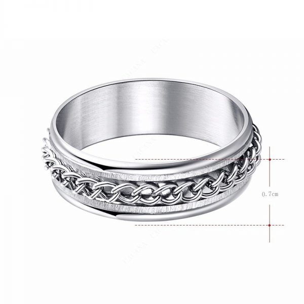 Montebello Ring Arie - Dames - 316L Staal - Mat - Blinkend - 7 mm -14580