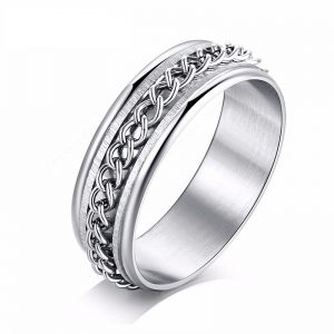 Montebello Ring Arie - Dames - 316L Staal - Mat - Blinkend - 7 mm -0