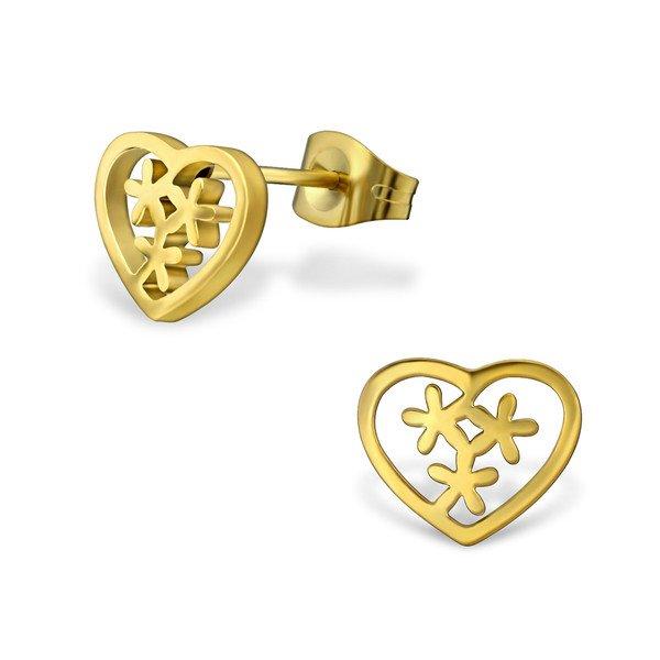 Amanto Oorbellen Chamel Gold - Dames - 316L Staal Gold PVD - Hart - 8 x 10 mm-0
