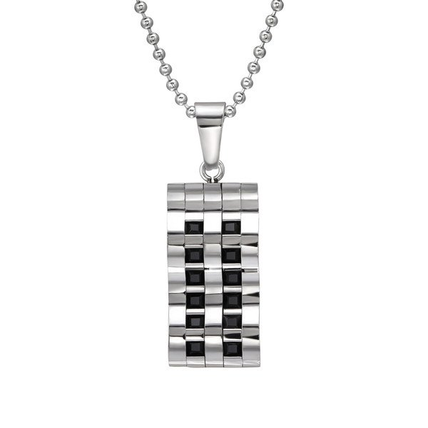 Amanto Ketting Chance - Heren - 316L Staal - 15 x 30 mm - 60 cm-14412