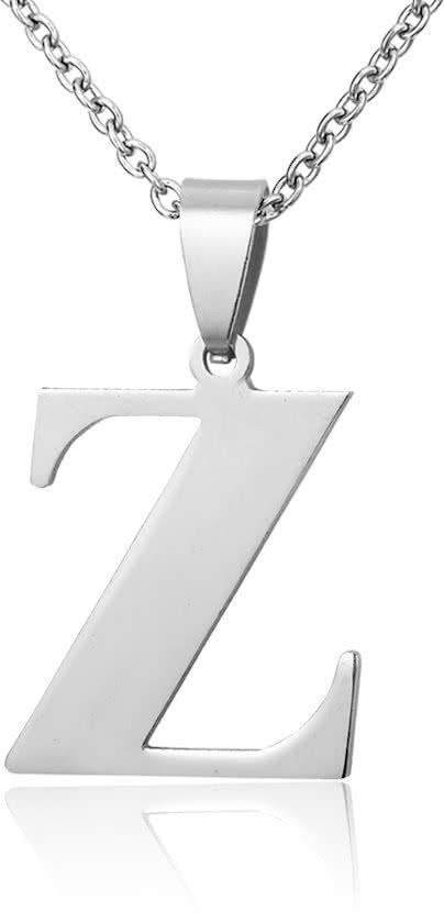 Montebello Ketting Letter Z - Unisex - 316L Staal - Alfabet - 18 x 30 mm - 50 cm-0