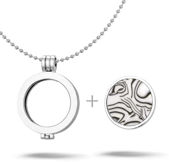 Montebello Ketting Alexa - Dames - Staal - Messing - Parelmoer - ∅35 mm - Coin - 3-delig - 80 cm -14653