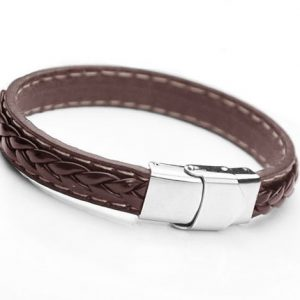 Montebello Armband Landlust Brown - Heren - Leer - 316L Staal - 10 mm - 20 cm-0