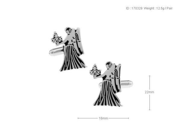 Amanto Manchetknopen Maagd - Heren - 316L Staal - Horoscoop - 22 x 16 mm-15081