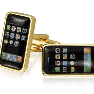Amanto Manchetknopen Conlan Gold - Heren - 316L Staal - GSM - 8,5 x 19,5 mm-0