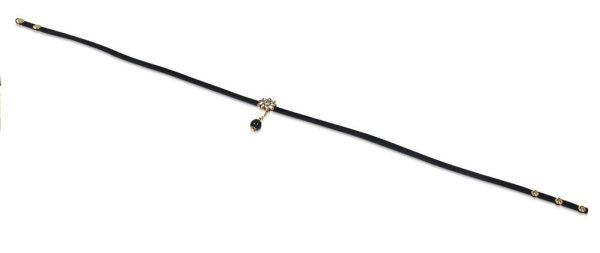 Amanto Armband Cos Black - Dames - PU Leer - Messing - Zirkonia - 17 mm - 56 cm-15381