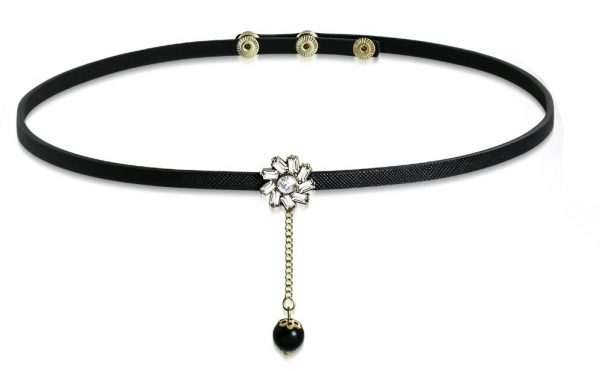 Amanto Armband Cos Black - Dames - PU Leer - Messing - Zirkonia - 17 mm - 56 cm-15382