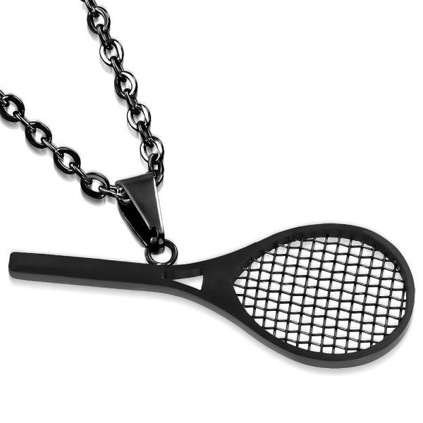 Amanto Ketting Conor - Heren - 316L Staal Zwart - Tennis - 50 x 20 mm - 60 cm-0