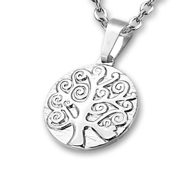 Amanto Ketting Dardan - Dames - 316L Staal PVD - Levensboom - 25 x 25 mm - 50 cm-0