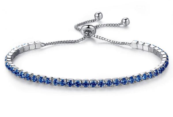 Montebello Armband Caia Blue - Dames - Messing - Zirkonia - Verstelbaar-0