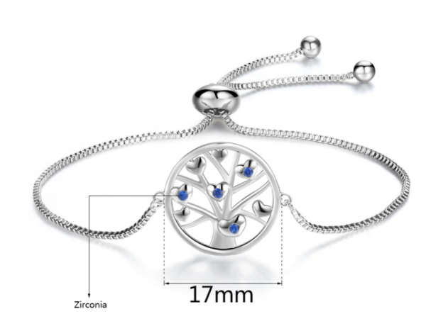 Montebello Armband Caia Love - Messing Verzilverd - Hartje - Levensboom -16689