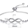 Montebello Armband Caia Infinity - Dames - Messing - Zirkonia -Symbool - Oneindig - Verstelbaar-16684