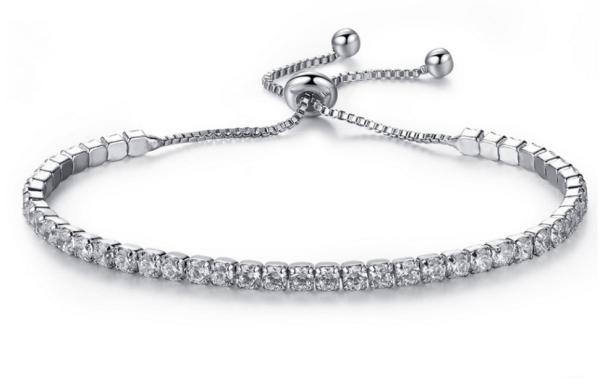 Montebello Armband Caia - Dames - Messing/Verzilverd - Zirkonia - Verstelbaar-0