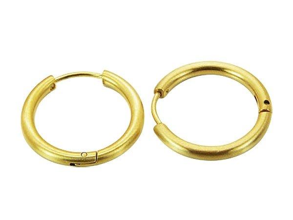 Amanto Oorbellen Davi Gold - Dames - 316L Staal PVD Verguld - Mat - Oorringen - 2,5 x 21 mm -0