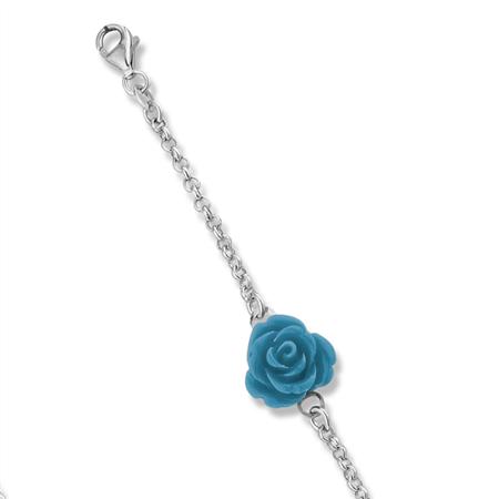 Montebello Armband Capsicum Blue - Dames - 925 Zilver - Roos - 19 cm -0