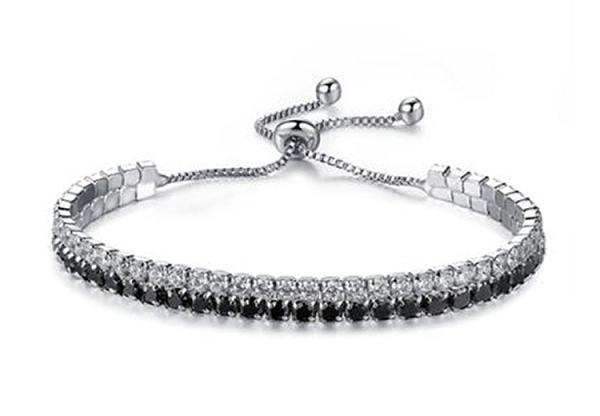 Montebello Armband Caia D - Dames - Messing/Verzilverd - Zirkonia - Verstelbaar-0