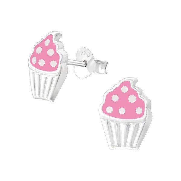 Princess Oorbellen Axis Pink - Meisjes - 925 Zilver - Cupcake - 7 x 10 mm-0