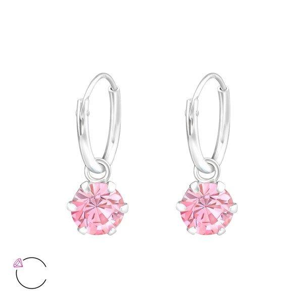 Montebello Oorbellen Cady Pink - Dames - 925 Zilver - Swarovski® ∅6 mm - ∅12 mm-0