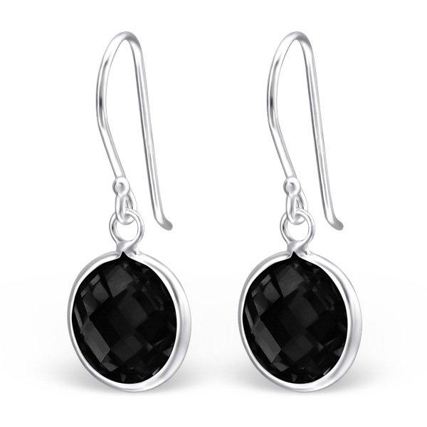 Montebello Oorbellen Caley Black - Dames - 925 Zilver - Zirkonia - 10x25mm-0