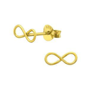 Montebello Oorbellen Cara - Dames - 925 Zilver Goudverguld - Infinity - 9 x 3 mm-0