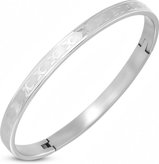 Amanto Armband Delphin - Dames - 316L Staal PVD- Bangle - 6 mm - 65 x 53 mm-0