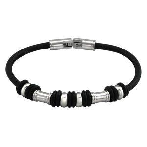 Montebello Armband Abia - Unisex - 316L Staal - Rubber - 19cm-0