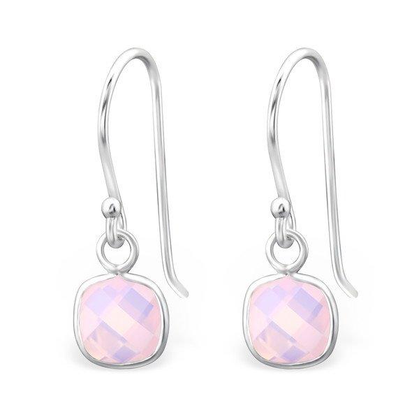 Montebello Oorbellen Didah Pink - 925 Zilver E-Coating - Opaal - 6x20mm-0