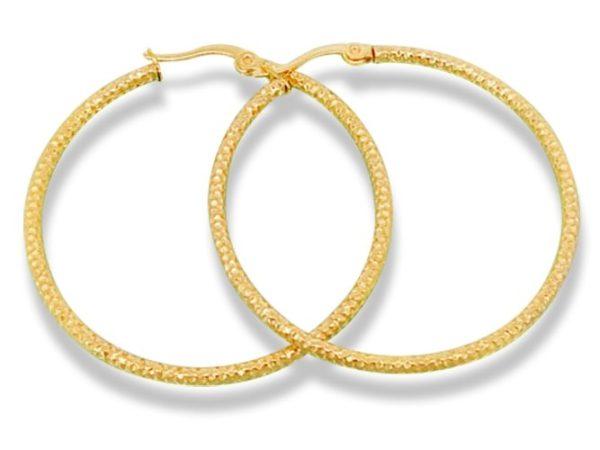 Amanto Oorbellen Desny Gold - Dames - 316L Staal Goud PVD - Oorring - ∅40 mm-0