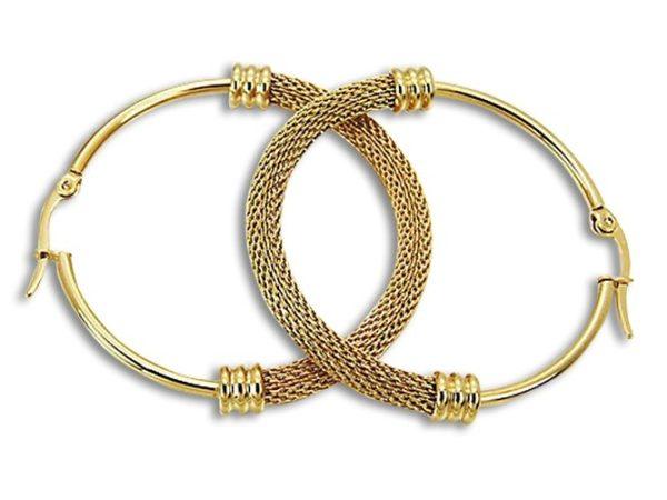 Amanto Oorbellen Derja Gold - Dames - 316L Staal Goud PVD - Trendy - 4 x 48 mm-0