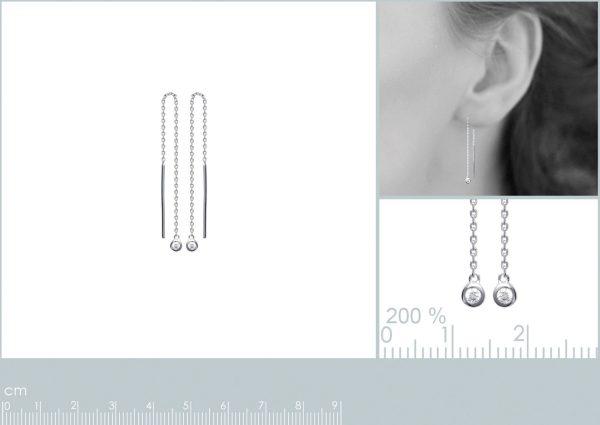 Zilveren oorbellen met salamander-20425