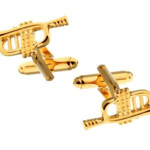 Amanto Manchetknopen Clark Gold - Heren - 316L Staal Goud PVD - Trompet - 8 x 25 mm-0