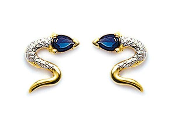 Zilveren oorbellen met salamander-20396